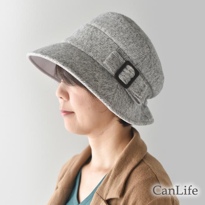 フェイスラインがきれいに見える。シンプルスタイルのクロッシェ帽子
