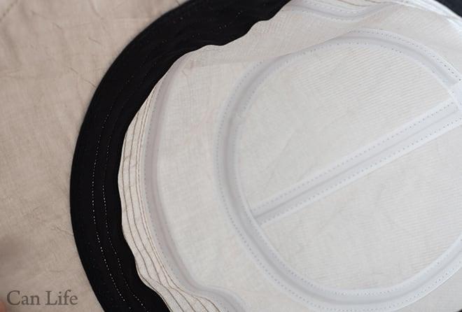 抗がん剤治療中のお出かけ帽子、夏用帽子 UVケア/シンプルリボンがかわいいブルトンハット帽子の縫製部分