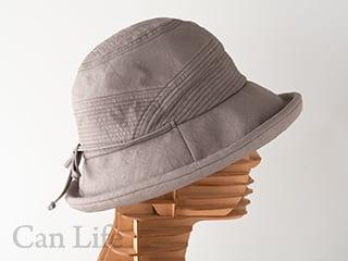 抗がん剤治療中のお出かけ帽子、夏用帽子 UVケア/シンプルリボンがかわいいブルトンハット帽子(ライトブラウン)