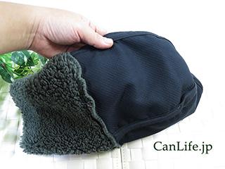 医療用帽子・抗がん剤帽子、冬用もふもふワッチ帽子(裏地付き)裏地の様子