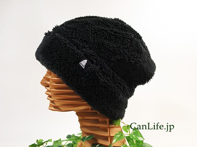 冬用もふもふワッチ帽子(裏地付き)ブラック