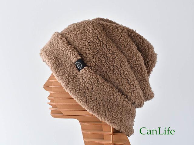 冬用もふもふワッチ帽子(裏地付き)ブラウン