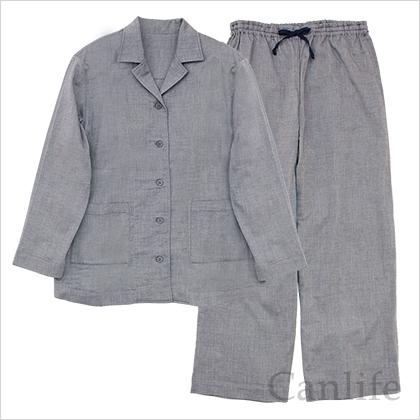 入院用パジャマ/前開きパジャマ(インディゴ)