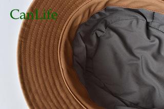 冬用帽子抗がん剤治療中のお出かけ帽子/キルティングハット 裏地のアップ