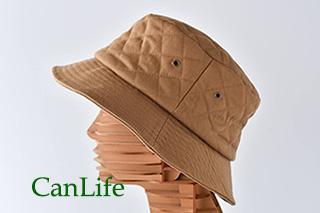 冬用帽子抗がん剤治療中のお出かけ帽子/キルティングハット ベージュ