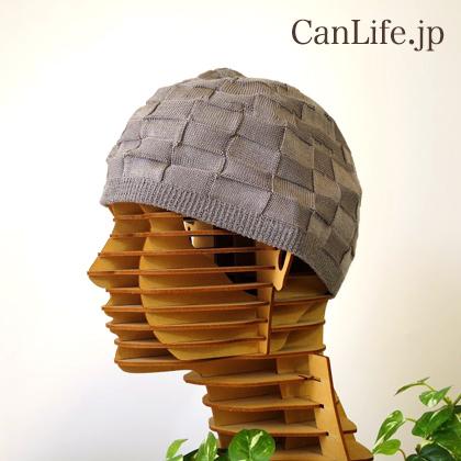 シルク100%イスラムワッチ帽子(グレー)