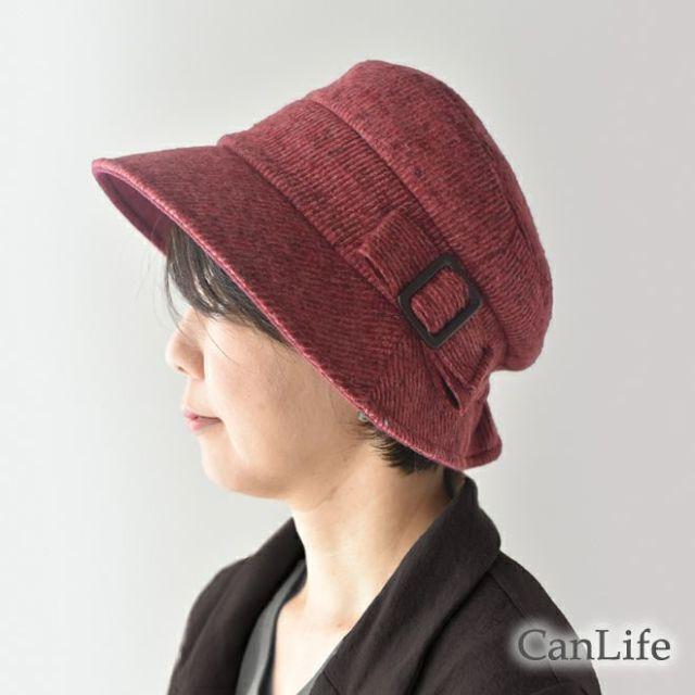 抗がん剤治療中のお出かけ帽子/冬用帽子うしろゴム・クロッシェ帽子